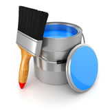3d render of colorful paint bucket Royalty Free Stock Images