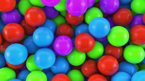 Colorful spheres background. 3D render. Colorful spheres background Stock Photo