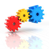 3d render of colourful gears Royalty Free Stock Photography