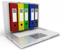 Digital filing and storage Royalty Free Stock Photography