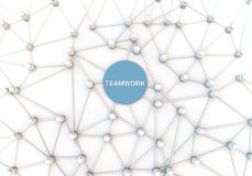 3d render of a concept for teamwork. Big links and networks to form a team Royalty Free Stock Image