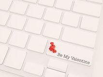 3d render concept of valentine key Stock Photos