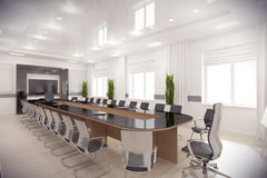 3d render conference hall Stock Photo