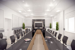 3d render conference hall Royalty Free Stock Images