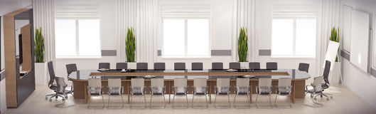 3d render conference hall Stock Image
