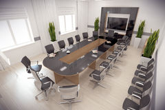 3d render conference hall Stock Photos
