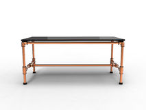 Copper Office Table Royalty Free Stock Photo