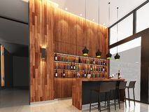 3d render of counter bar Stock Images