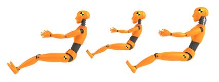 3d render of crash dummies. Realistic 3d render of crash dummies Royalty Free Stock Image