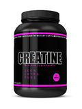 3d render of creatine bottle  over white Royalty Free Stock Photo