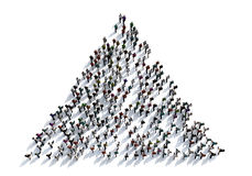 3D render crowd of people on white background from top view Royalty Free Stock Image