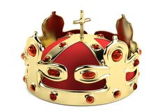 3d render of crown Royalty Free Stock Image