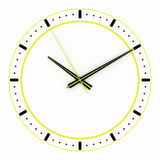 3D render, 3d illustration. Abstract clock, dial with a marking and arrows. Royalty Free Stock Photography