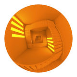 3d render, 3d illustration,  stairway Royalty Free Stock Images
