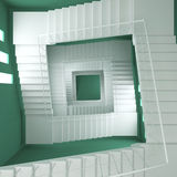 3d render, 3d illustration,  stairway Royalty Free Stock Photo