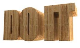 3d text `Do it`. 3d render, 3d image. A wooden voluminous text. Do it Stock Images