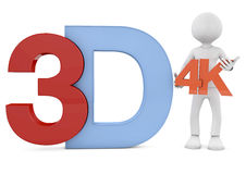 3d render of the 3d text Royalty Free Stock Image