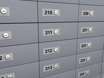 3d render of deposit boxes Royalty Free Stock Image