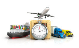 3d render of different modes of transport Stock Photo