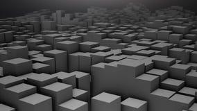 3D render Digital background of the many grey squares. 4k stock illustration