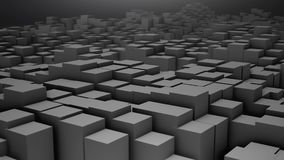 3D render Digital background of the many grey squares. 4k Stock Photography