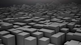3D render Digital background of the many grey squares. 4k vector illustration