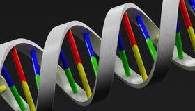 3d Render of DNA model. Realistic 3d Render of DNA model Stock Photo