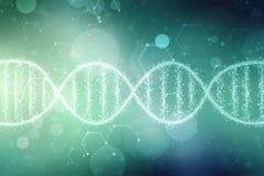 Digital Illustration of DNA structure, abstract medical background stock illustration