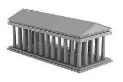 3d render of doric temple Royalty Free Stock Photography