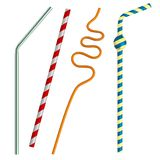 3d render of drinking straws Royalty Free Stock Photography