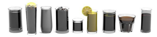 3d render of drinks Stock Photos