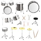 3d render of drum set Royalty Free Stock Images