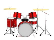 3d render of drumset Royalty Free Stock Photos