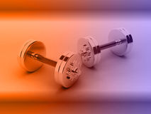 3d render of dumbells Royalty Free Stock Photo