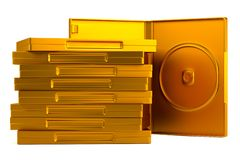 3d render of DVD case Royalty Free Stock Image