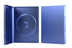 3d render of DVD case. Realistic 3d render of DVD case Royalty Free Stock Images
