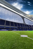 3d render emptry hi-tech stadium evening without people. Day vector illustration