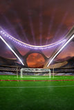 3d render emptry hi-tech stadium evening without people jump track Stock Images