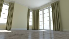 Empty Room. 3D render of an empty room Stock Photography