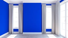 Empty Room. 3D render of an empty room Royalty Free Stock Images