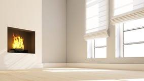 Empty Room. 3D render of an empty room Stock Image