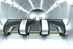 3d render of escalator scene Royalty Free Stock Images
