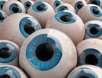 3d render eyeballs Royalty Free Stock Photo