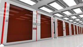 3d render farm Stock Photography