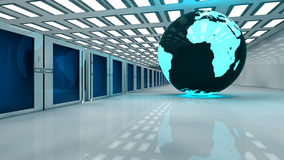 Render farm and globe earth Stock Photography