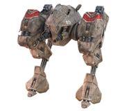 Giant Mecha Walker 3D Render. 3D render of a fearsome giant mecha walker. Armed, dangerous, and ready to strike stock illustration