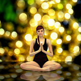 3d render of a female doing yoga Stock Photography
