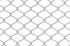 3d render of fence links Royalty Free Stock Photo