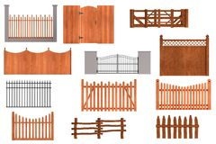 3d render of fences Royalty Free Stock Image