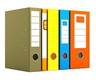 3d render of files Royalty Free Stock Images